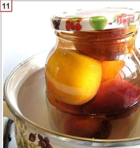 Компот из персиков на зиму - простые рецепты на 3 литровую банку