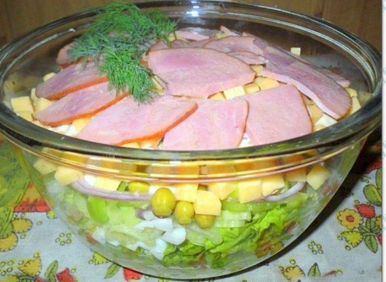 Простой салат с синей капусты рецепт