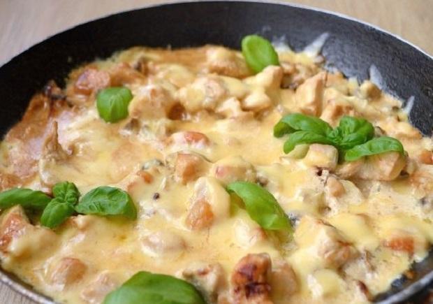 Жульен из курицы с грибами в духовке рецепт в тарталетках 189