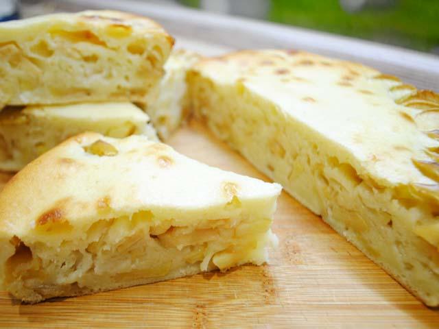 Пышная шарлотка с яблоками на кефире в – 13 рецептов с фото