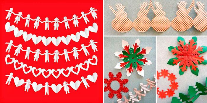 Новогодние гирлянды своими руками: шаблоны, схемы