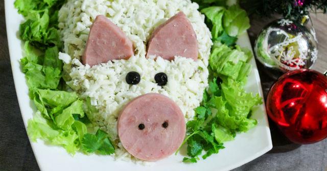 Блюда в виде Свиньи (Хрюшки) на Новый год 2019