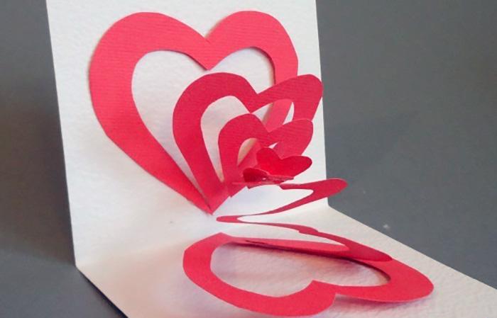 Открытки своими руками к дню святого валентина поэтапно