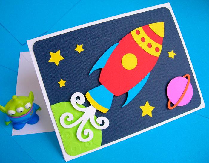 Открытки на космическую тематику своими руками для детей, нарисованные картинки котиков