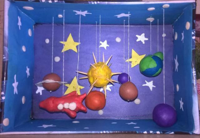Поделка ко дню космонавтики своими руками в детский сад и школу + мастер класс