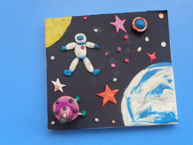 К дню космонавтики картинки и поделки