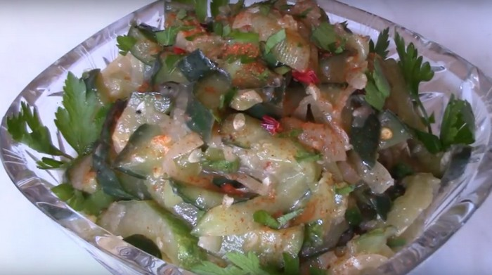 Салат из огурцов по-корейски на зиму — самый вкусный рецепт