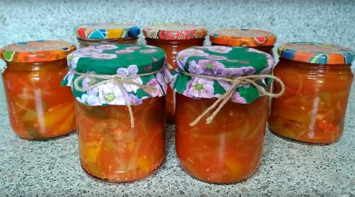 Лечо из перца, помидоров, моркови и лука на зиму - пошаговый фото рецепт