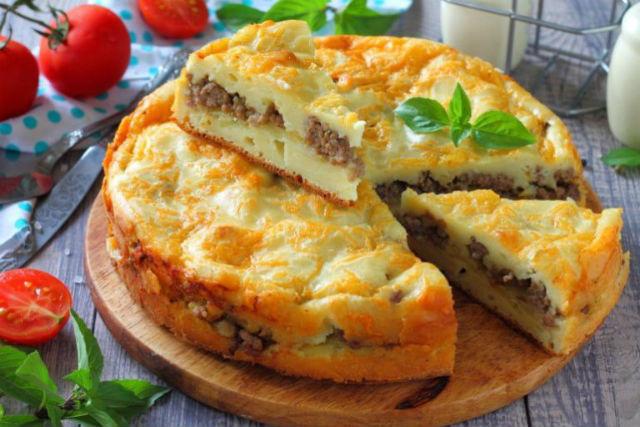 Заливной рыбный пирог - рецепт простой и быстрый