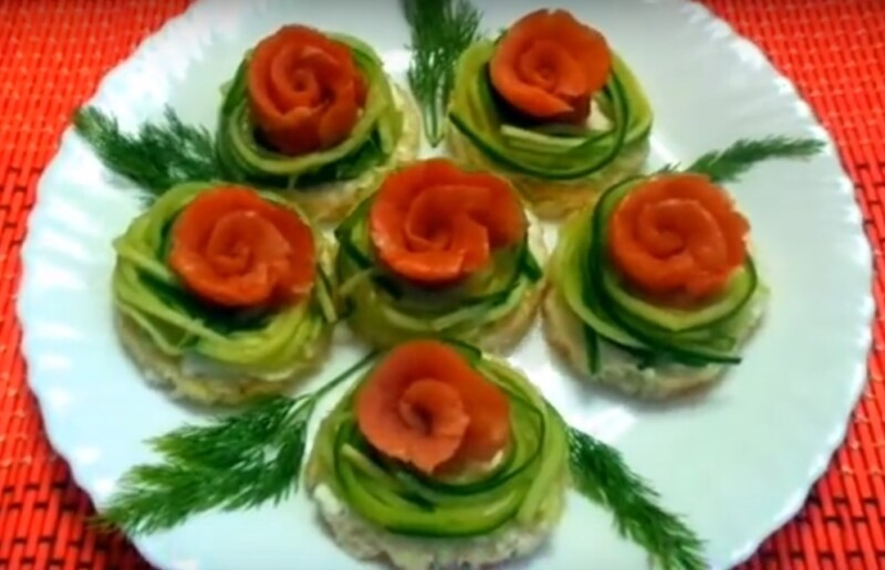Простые бутерброды с красной рыбой на праздничный стол. 5 простых и вкусных пошаговых рецептов