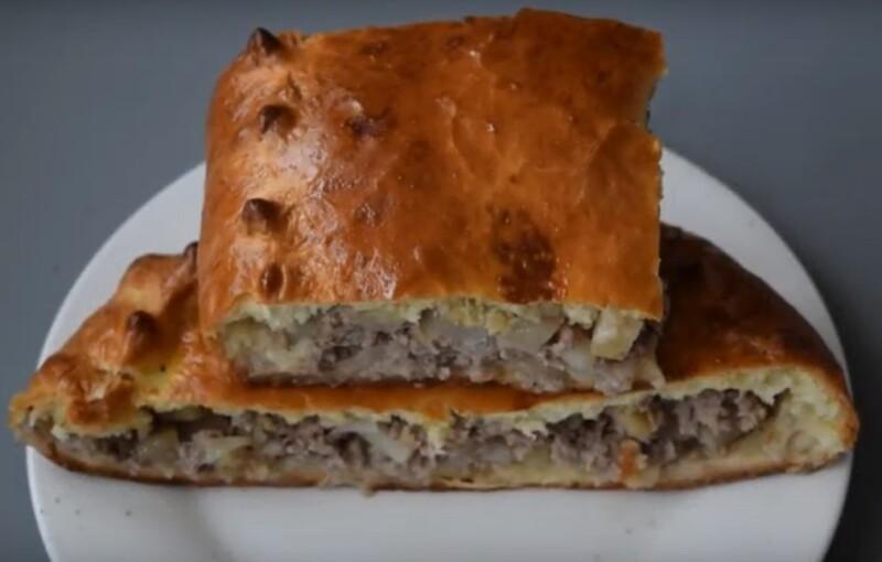 Пирог с мясом и картошкой в духовке — пошаговый рецепт