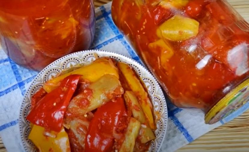 Самое вкусное лечо из болгарского перца и баклажанов