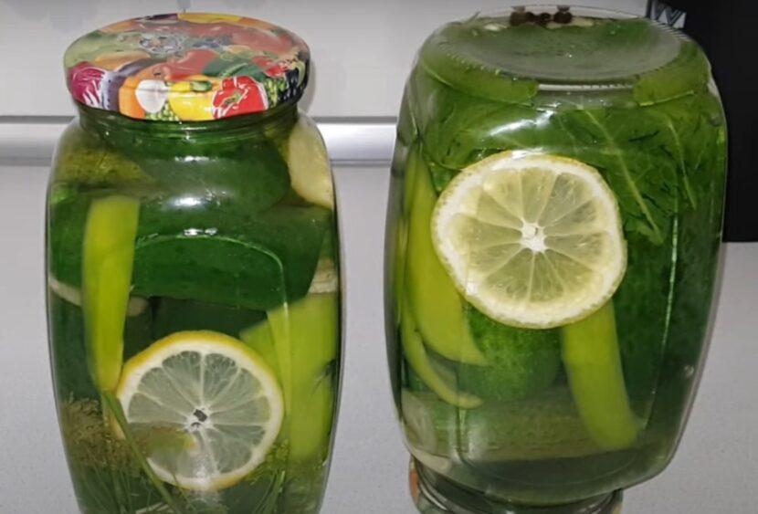 Огурчики с лимоном - простой рецепт консервации