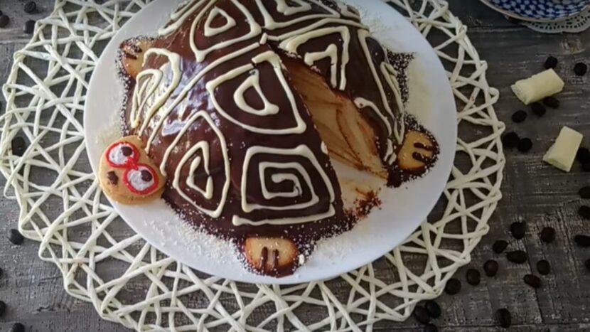 Шоколадный тортик «Черепаха»: