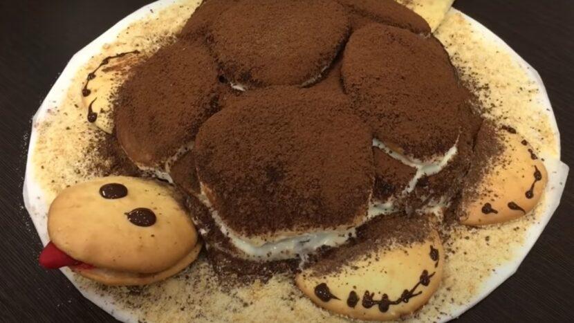 Тортик Черепаха со сгущенкой